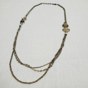 Loft | Layered Necklace with Stones